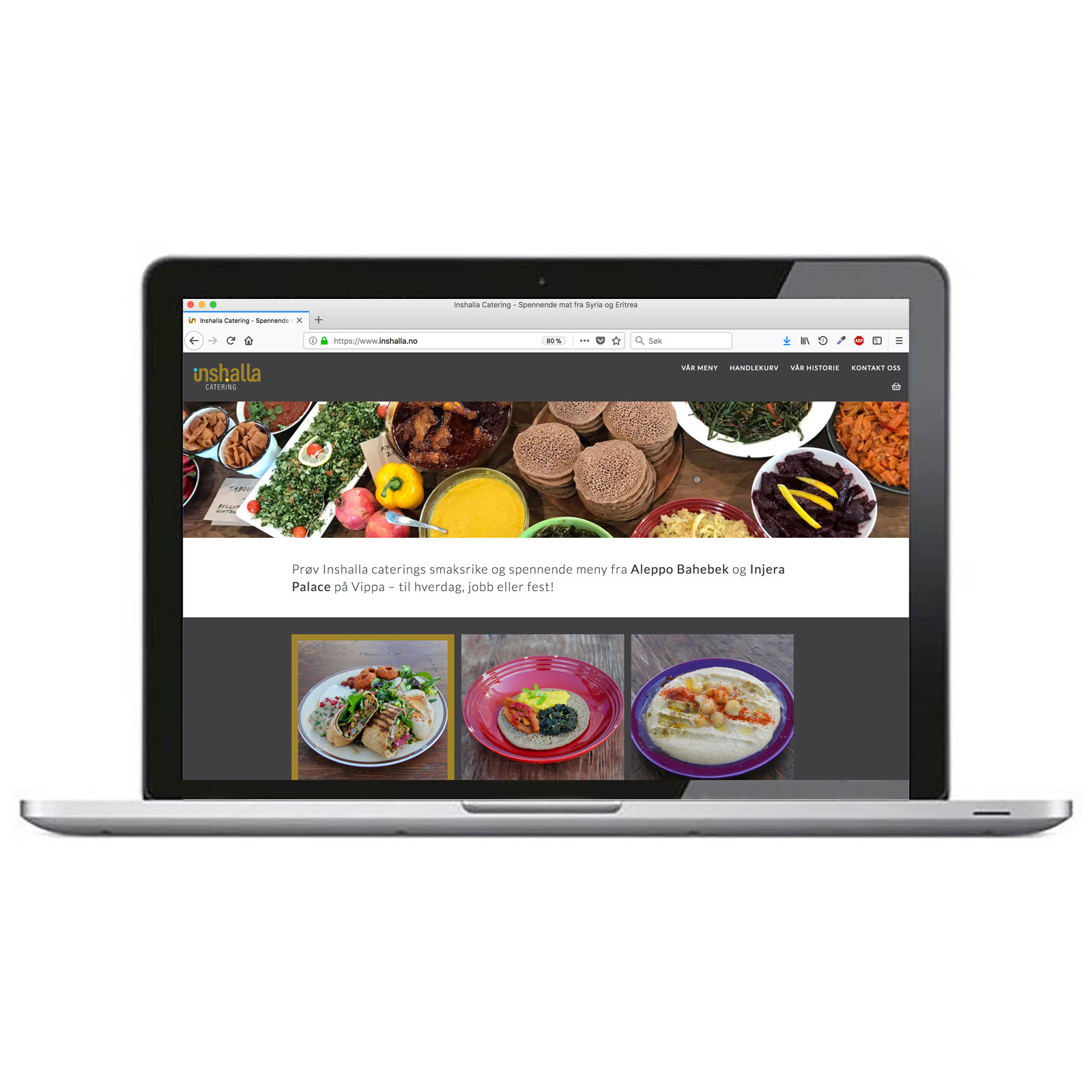 Inshalla catering – nettside