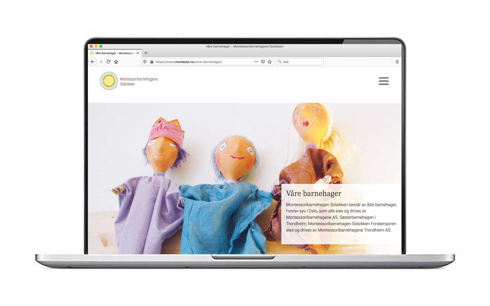 Montessoribarnehagene – nettside